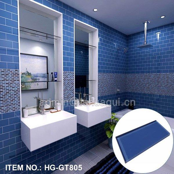 HG-GT805 Blue bathroom backsplash
