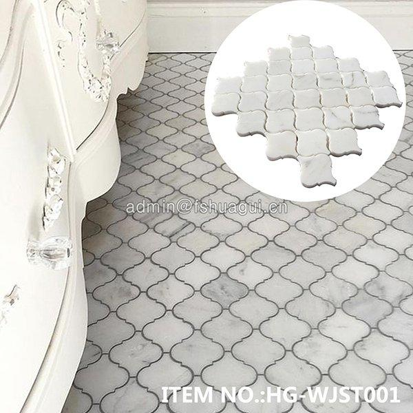 HG-WJST001  Lantern Shape Stone Mosaic Tile