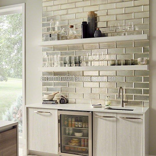 Silver glass mosaic tile
