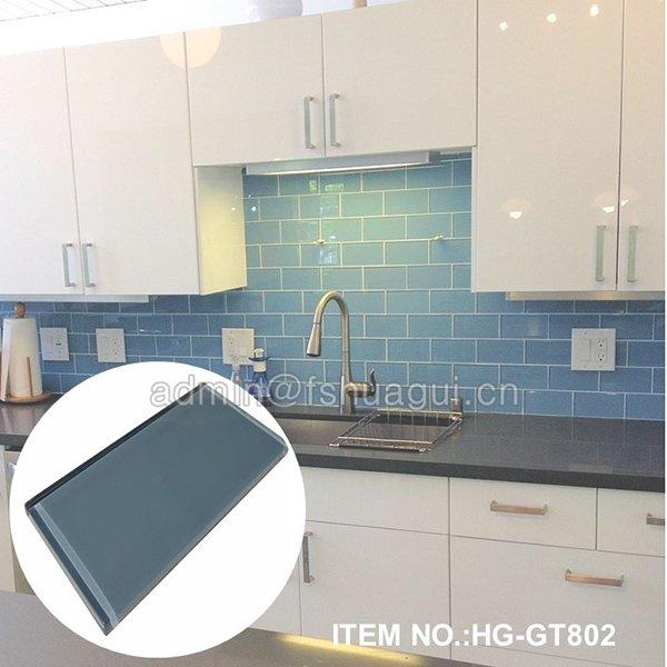 HG-GT802 blue glass tile
