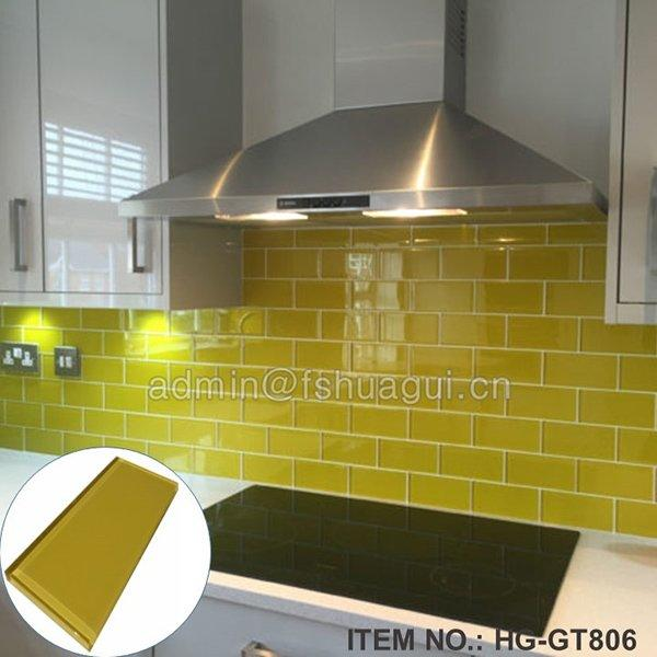 HG-GT806 Yellow subway glass tile