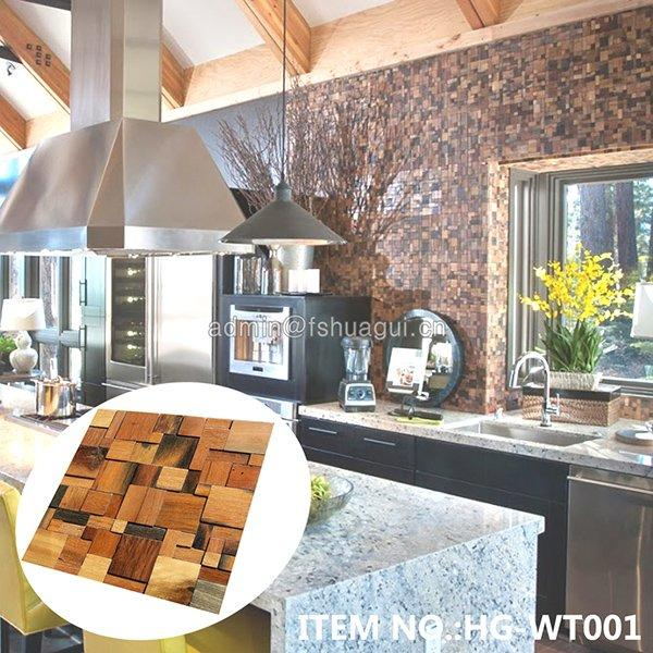 HG-WT001  Rustic Panel  Wood Mosaic factory