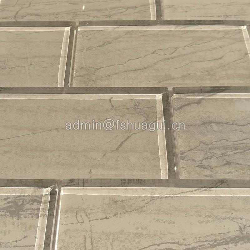 Huagui Inkjet gray glass subway tile home depot   HG-CDT662 GLASS SUBWAY TILE image14