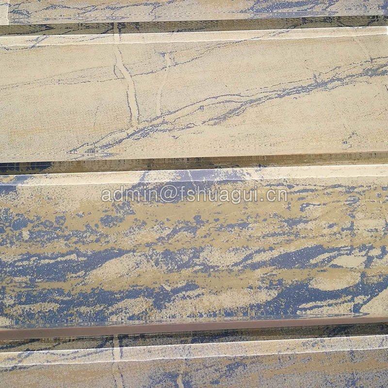 2018 new design 3×12 inkjet printing glass tile Foshan supplier  HG-CDT662