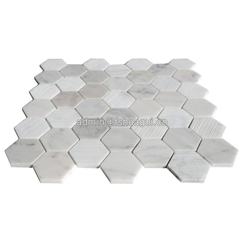 Huagui unique white marble mosaic tile from for kitchen