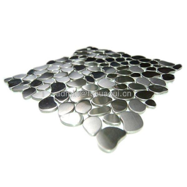 Huagui 304 River Rock Pattern Mosaic Stainless Steel kitchen backsplash wall tile  HG-JS8304 METAL MOSAIC TILE image11