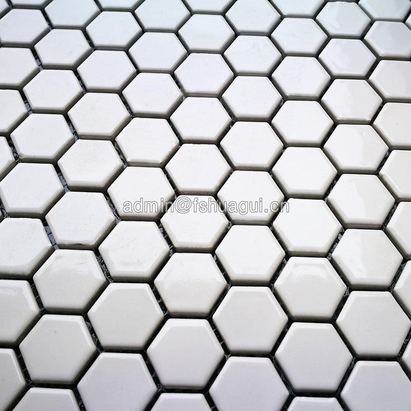 Huagui Iridescent black and white ceramic tile effect for floor