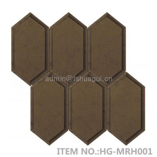 Huagui Bronze beveled elongated hexagon mirror mosaic tile  HG-MRH001 GLASS MOSAIC TILE image122