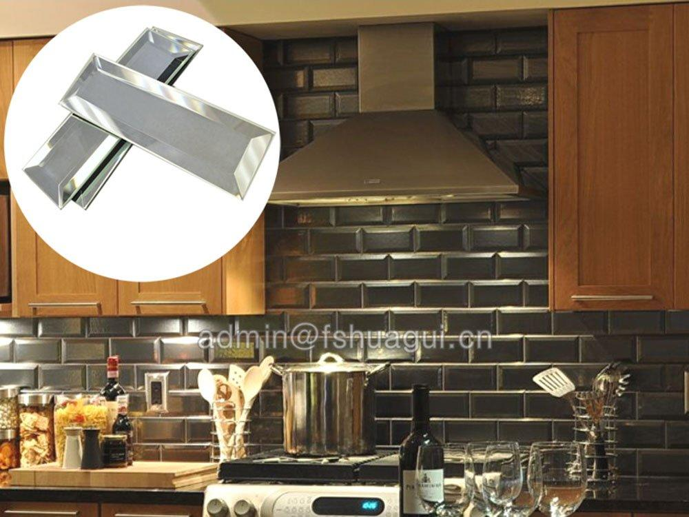 Huagui recycled gray glass subway tile backsplash as decorative floor for outdoor