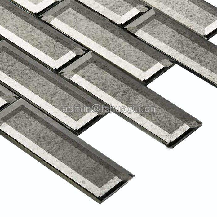 Huagui glossy grey glass subway tile company for outdoor-2