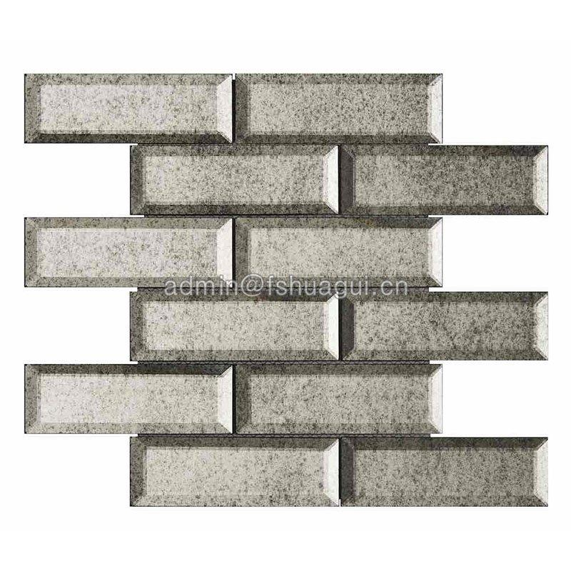 Huagui glossy grey glass subway tile company for outdoor-3