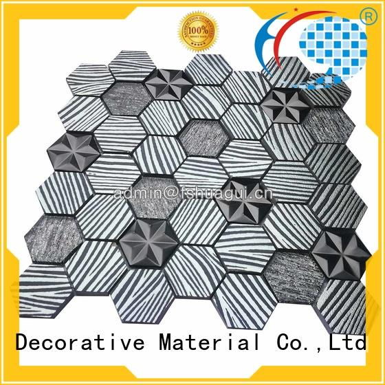 high quality aluminum copper mosaic tile metal wall Huagui company