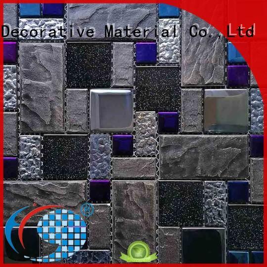 Iridescent hexagon porcelain mosaic tile sale for home