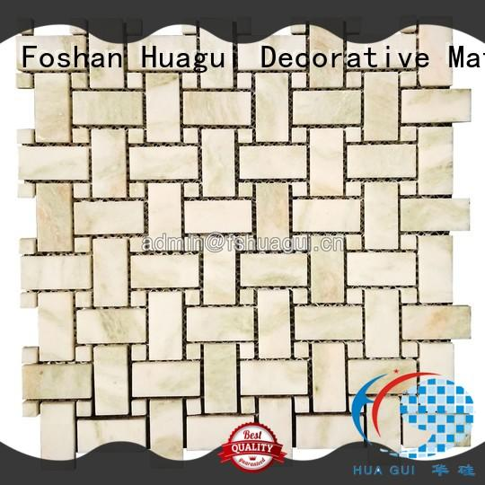 Huagui unique bathroom stone wall tiles backsplash for outdoor