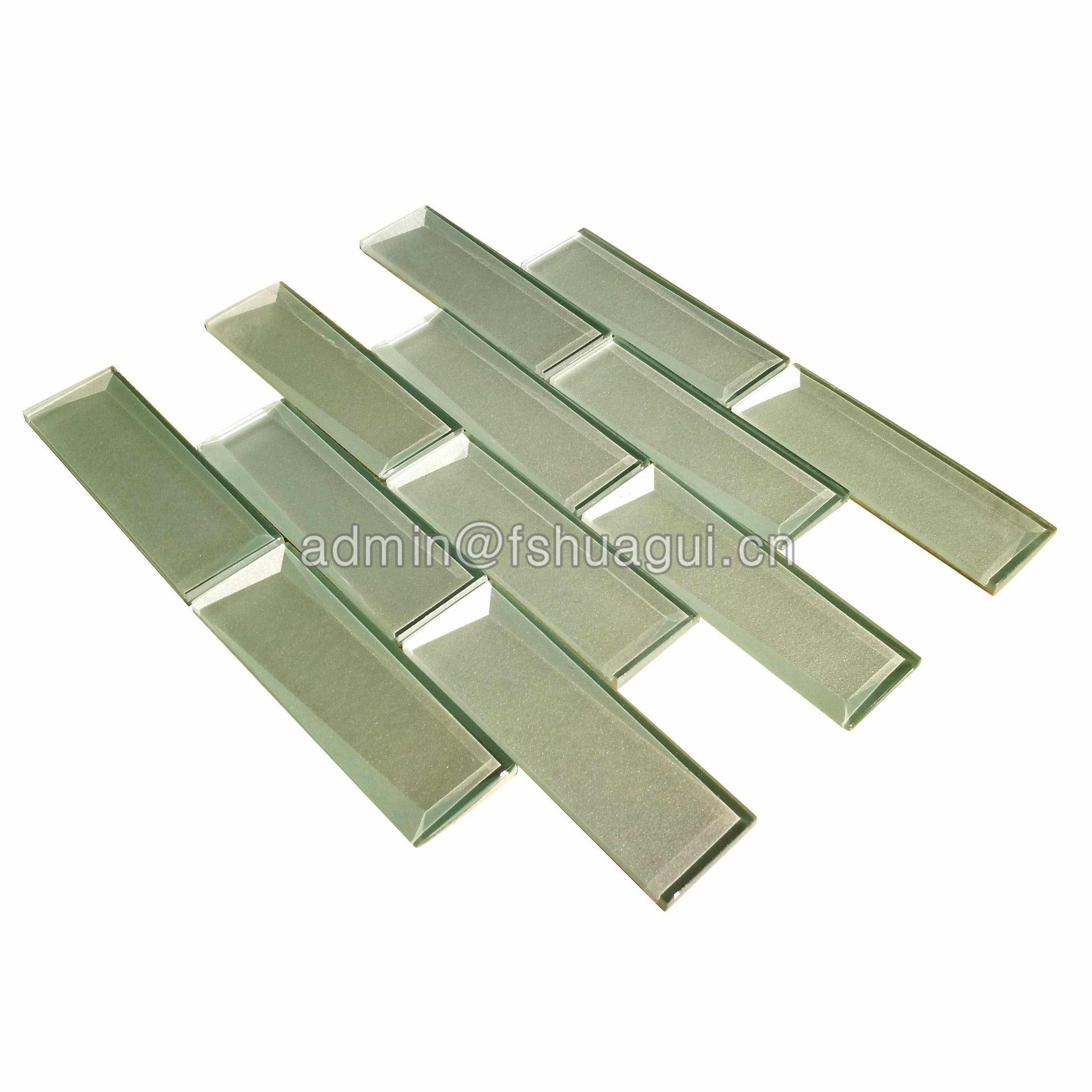 Pure Color Glass Subway Wall Mosaic Tiles HG-HB013