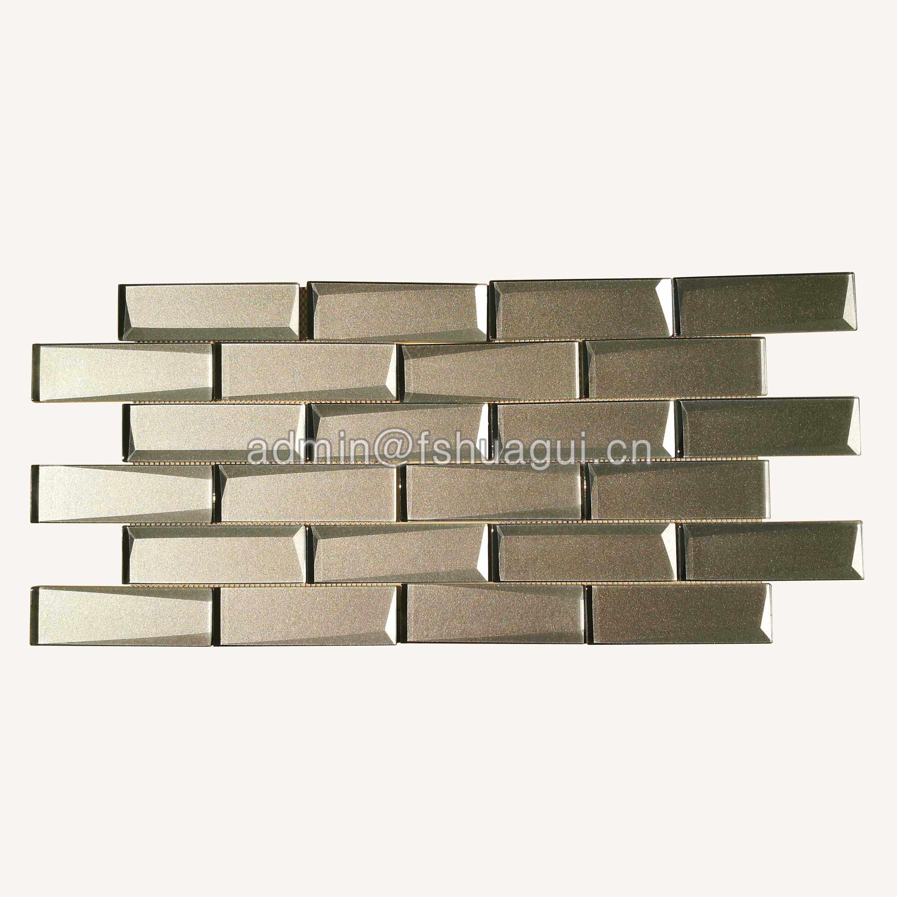 Huagui Cold Spray Glass Mosaic Tile for Wall Backsplash HG-HB014 GLASS SUBWAY TILE image7