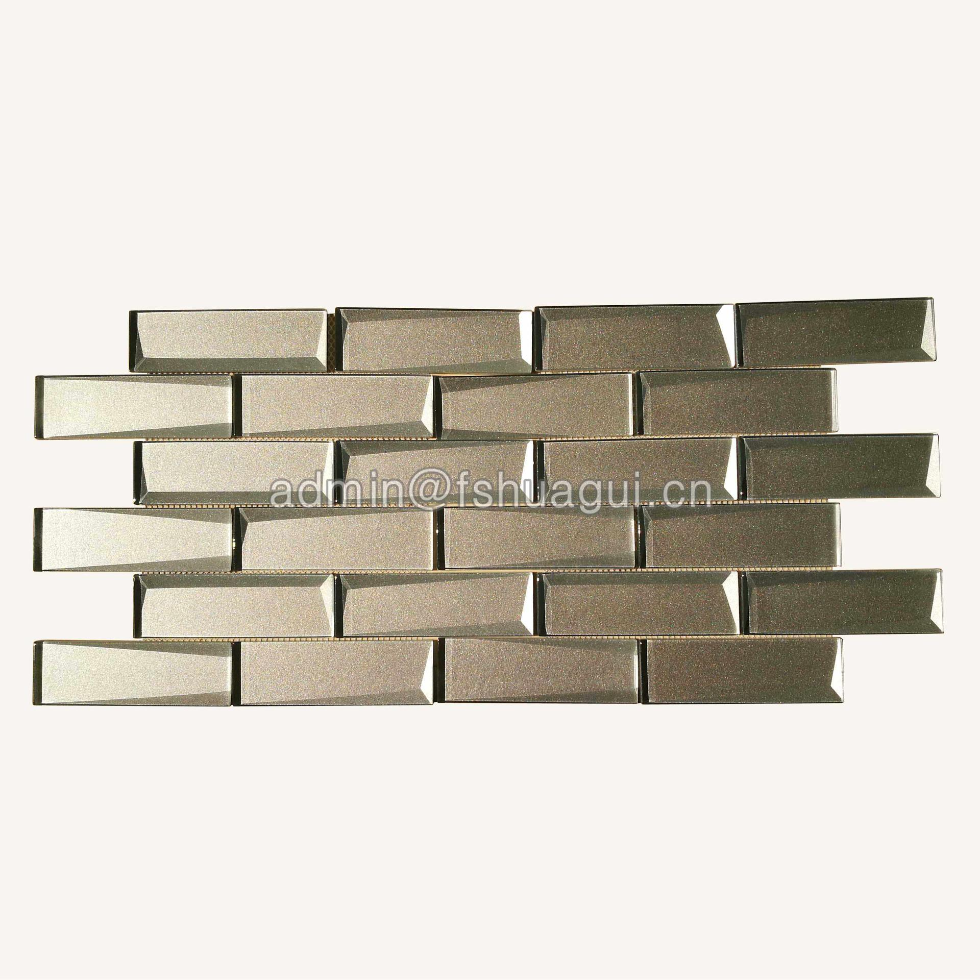 Cold Spray Glass Mosaic Tile for Wall Backsplash HG-HB014