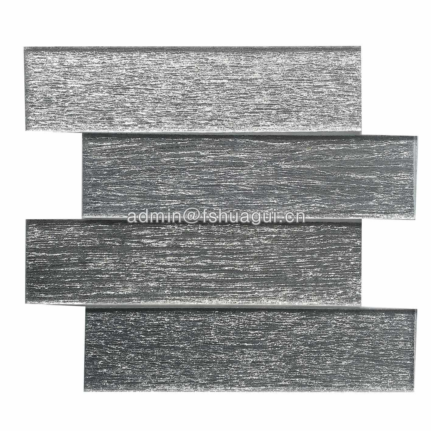 Newest Design Silver Subway Brick Glass Mosaic Wall Tile HG-GTS012
