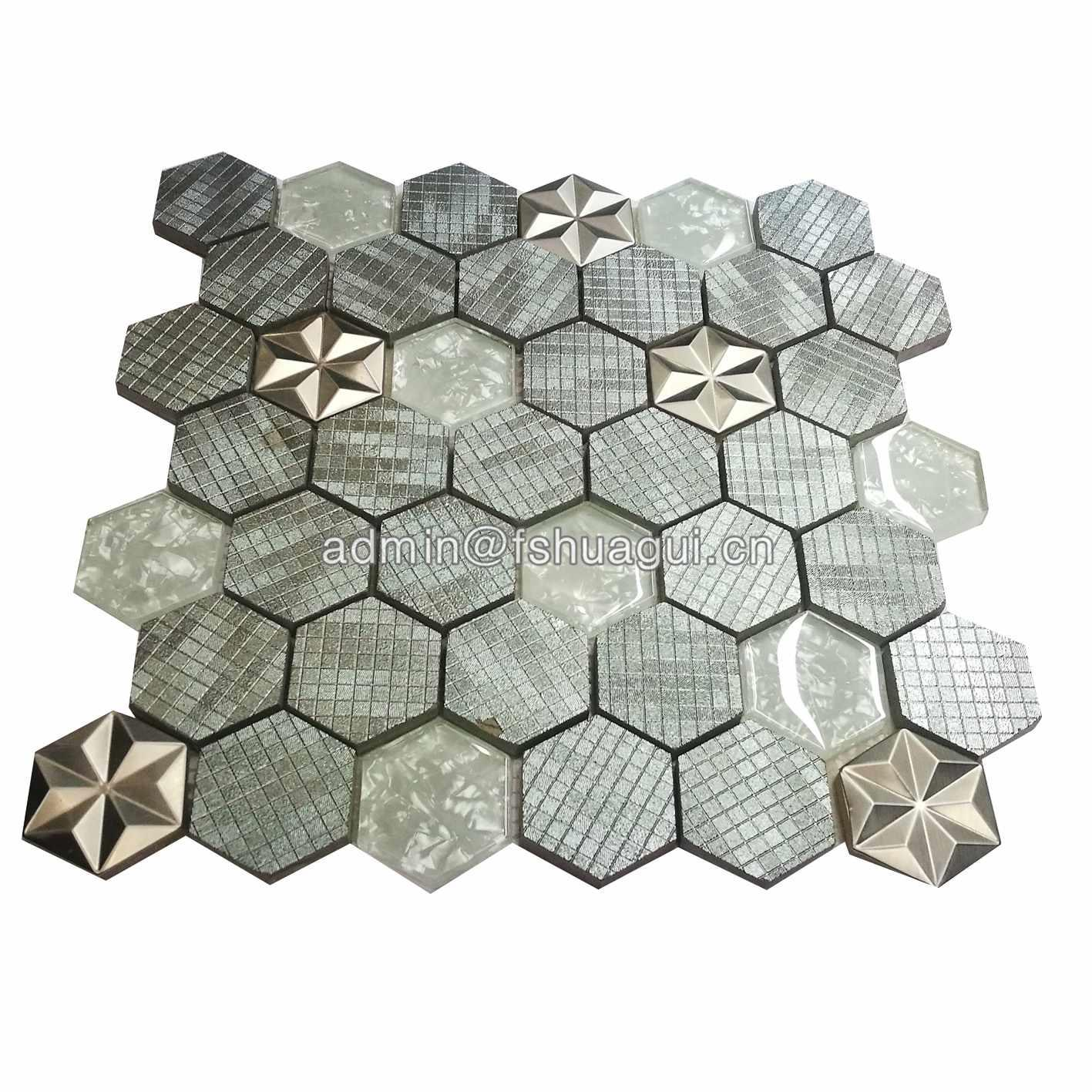 New Design Hexagon Art pattern Mosaic Tile Supply