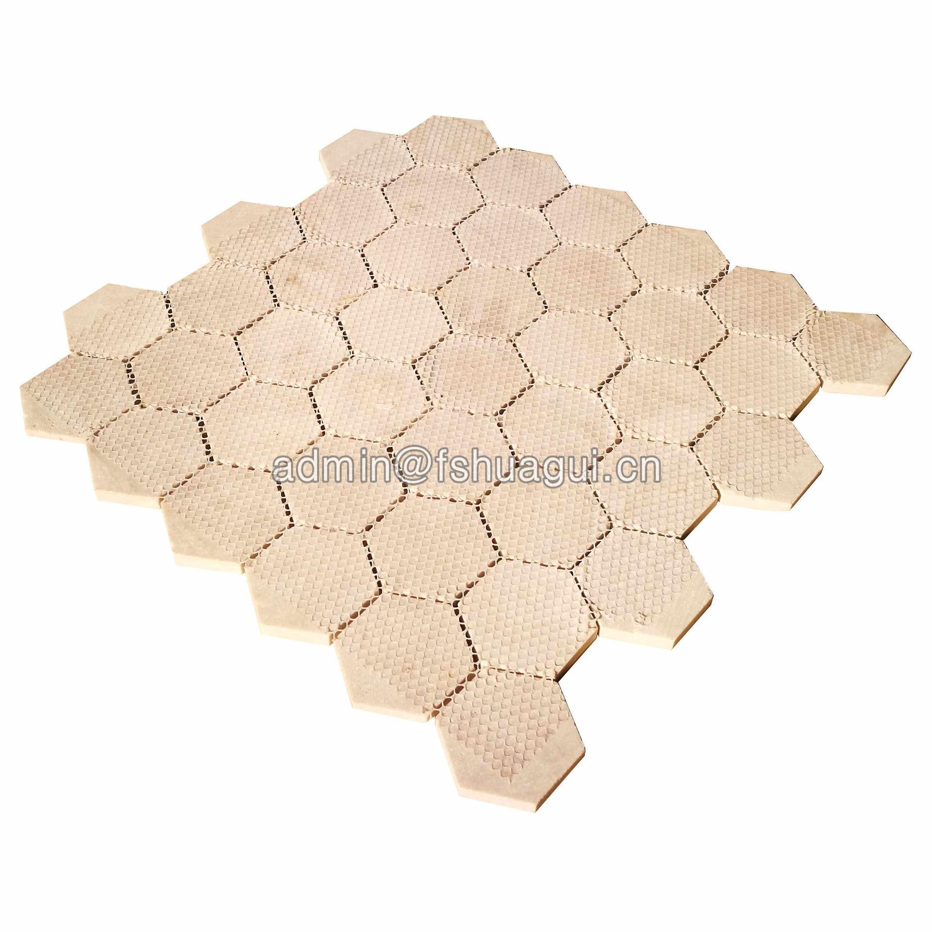 Classic 3D effect marble hexagon stone mosaic tile