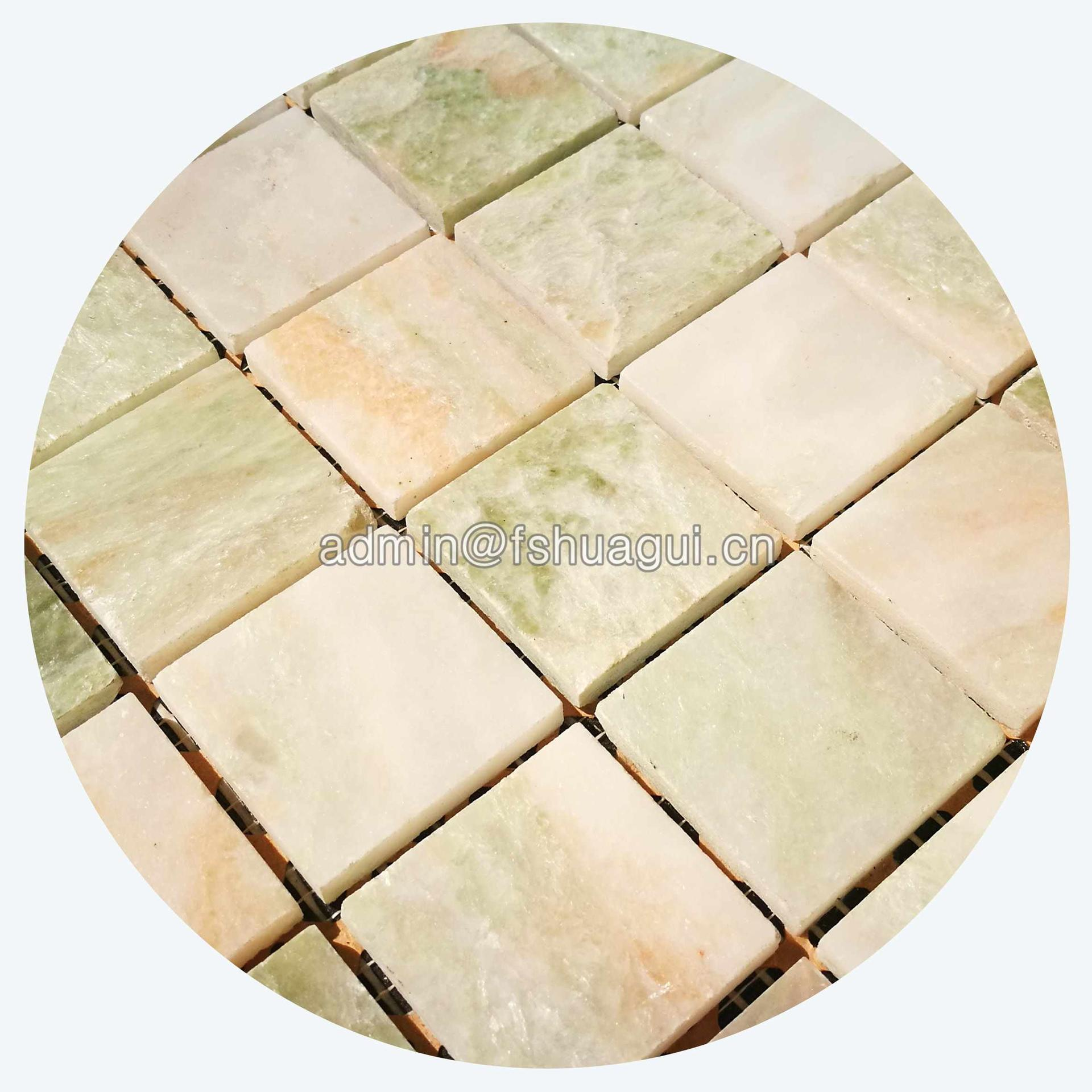 Natural jade stone mosaic wall tile from factory supply