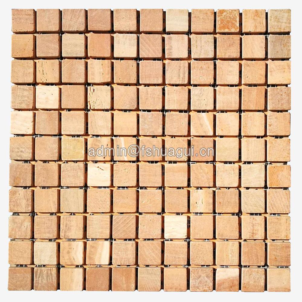Broken design natural stone mosaic backsplash tile