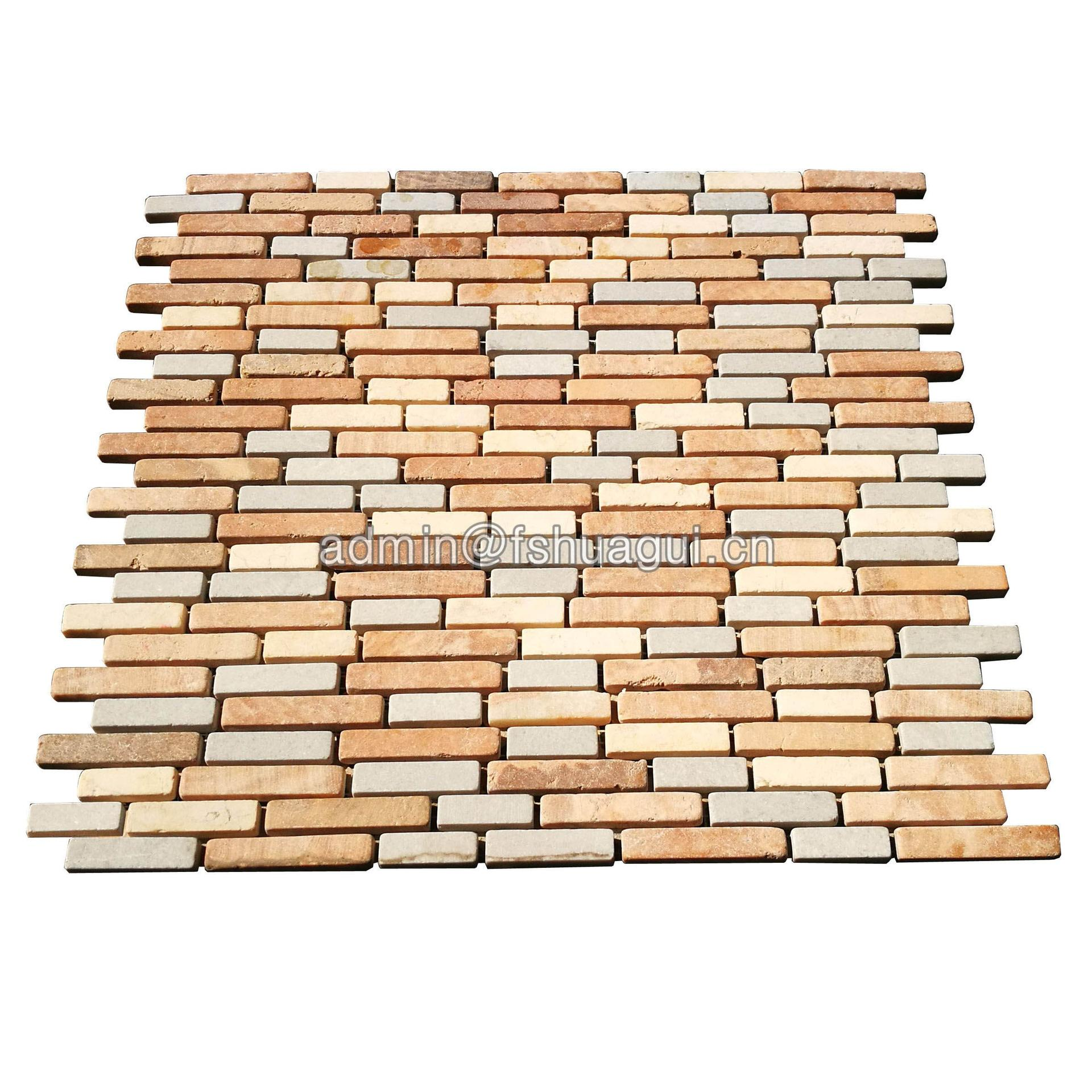 China supply linear stone mosaic tile for interior decoration