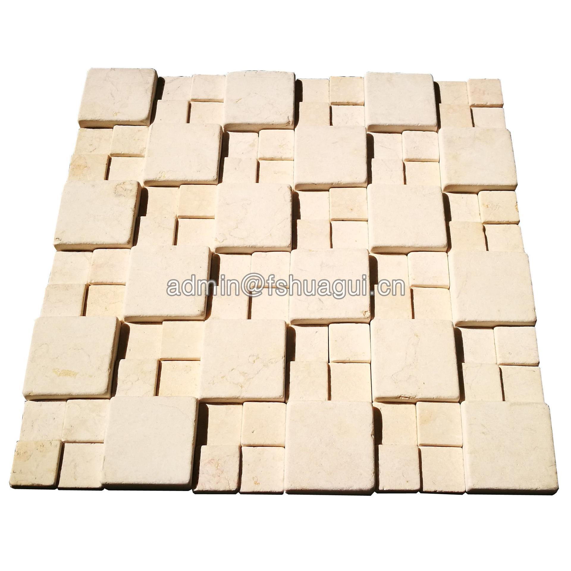 New design 3D effect natural stone mosaic tile design idea