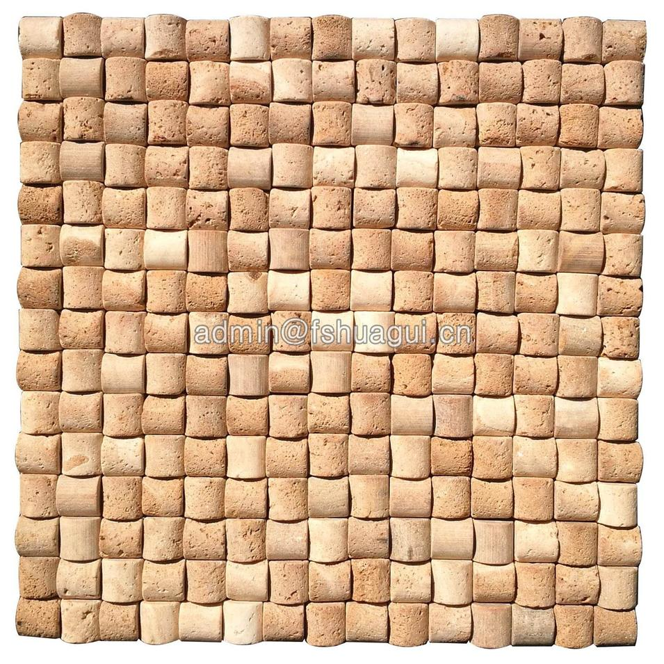 Wall decoration Roman style beige natural stone mosaic tile