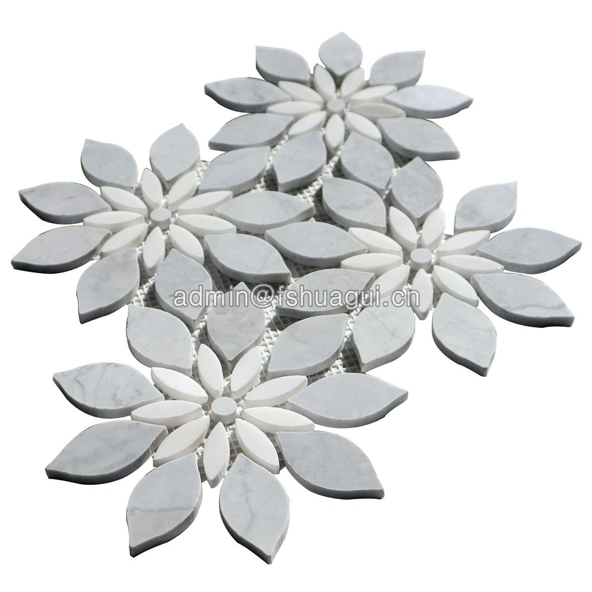 Exquisite flower pattern art design marble stone mosaic