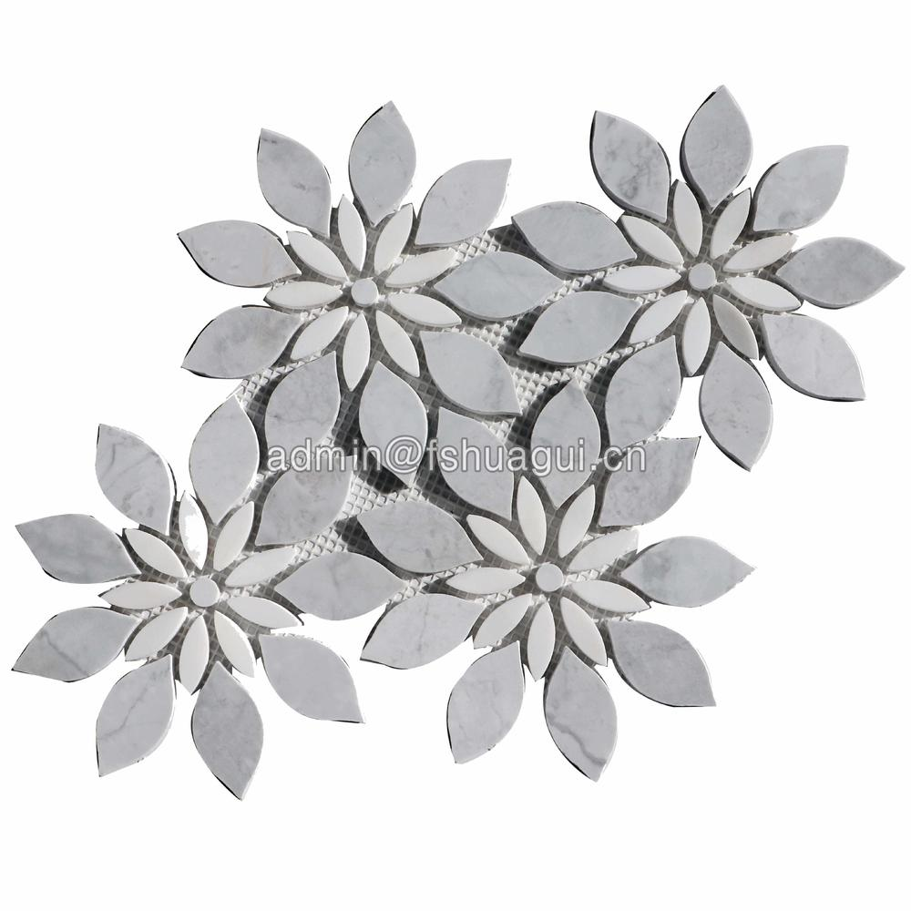 Exquisite flower pattern art design marble stone mosaic