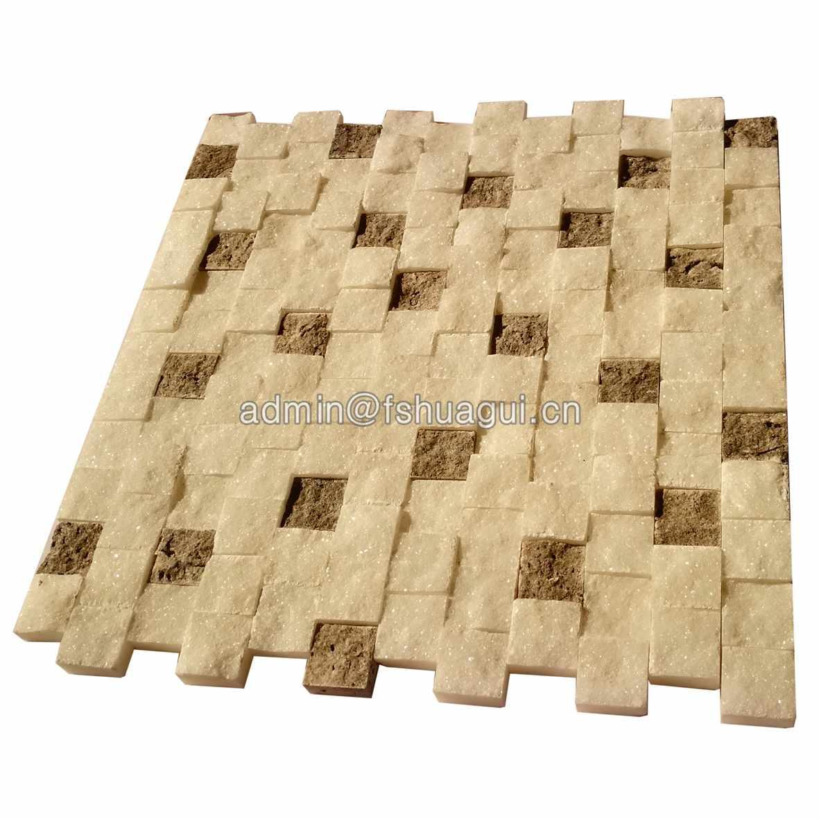 Hot sale warm color stone mosaic wall backsplash tile