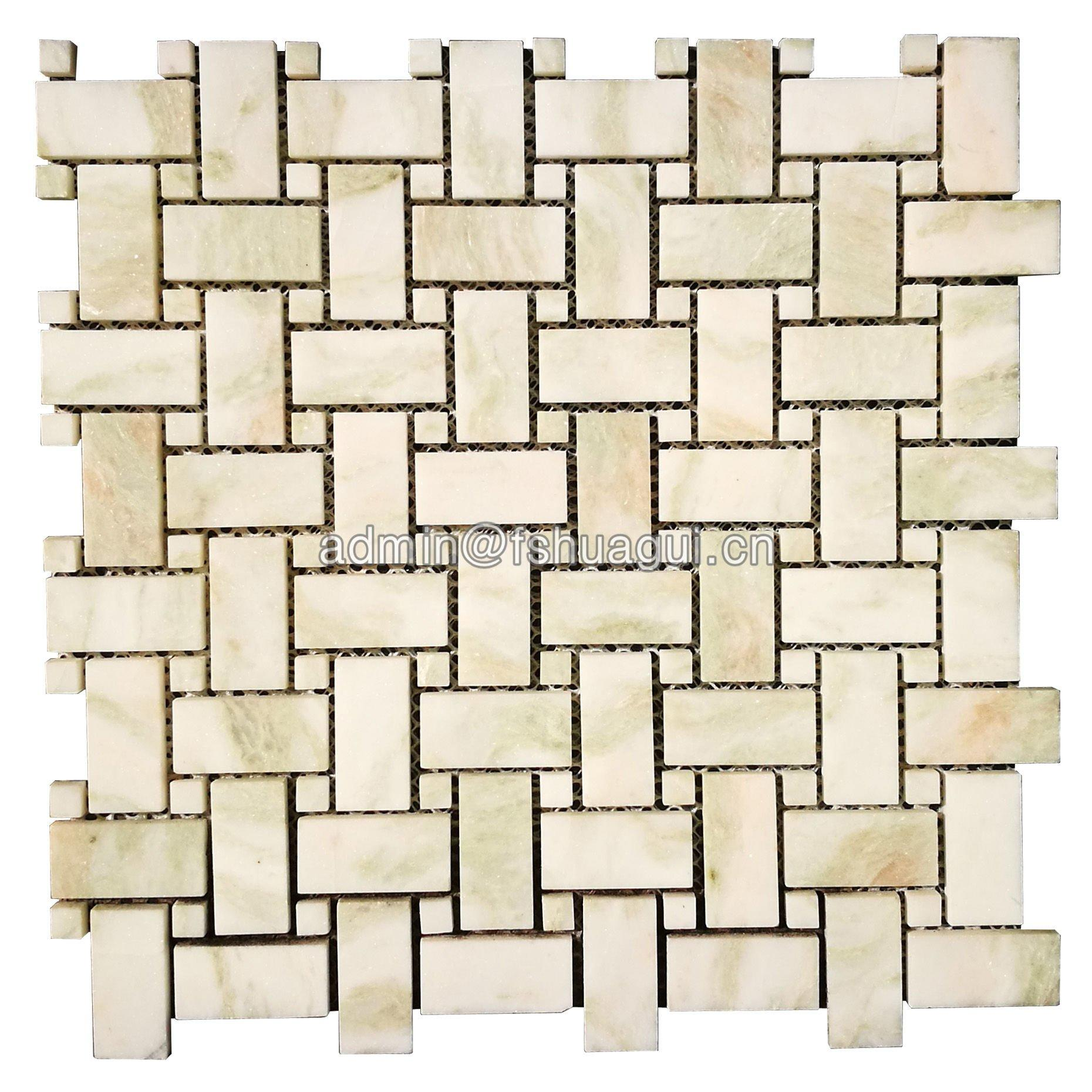Popular design natural stone marble mosaic wall tile