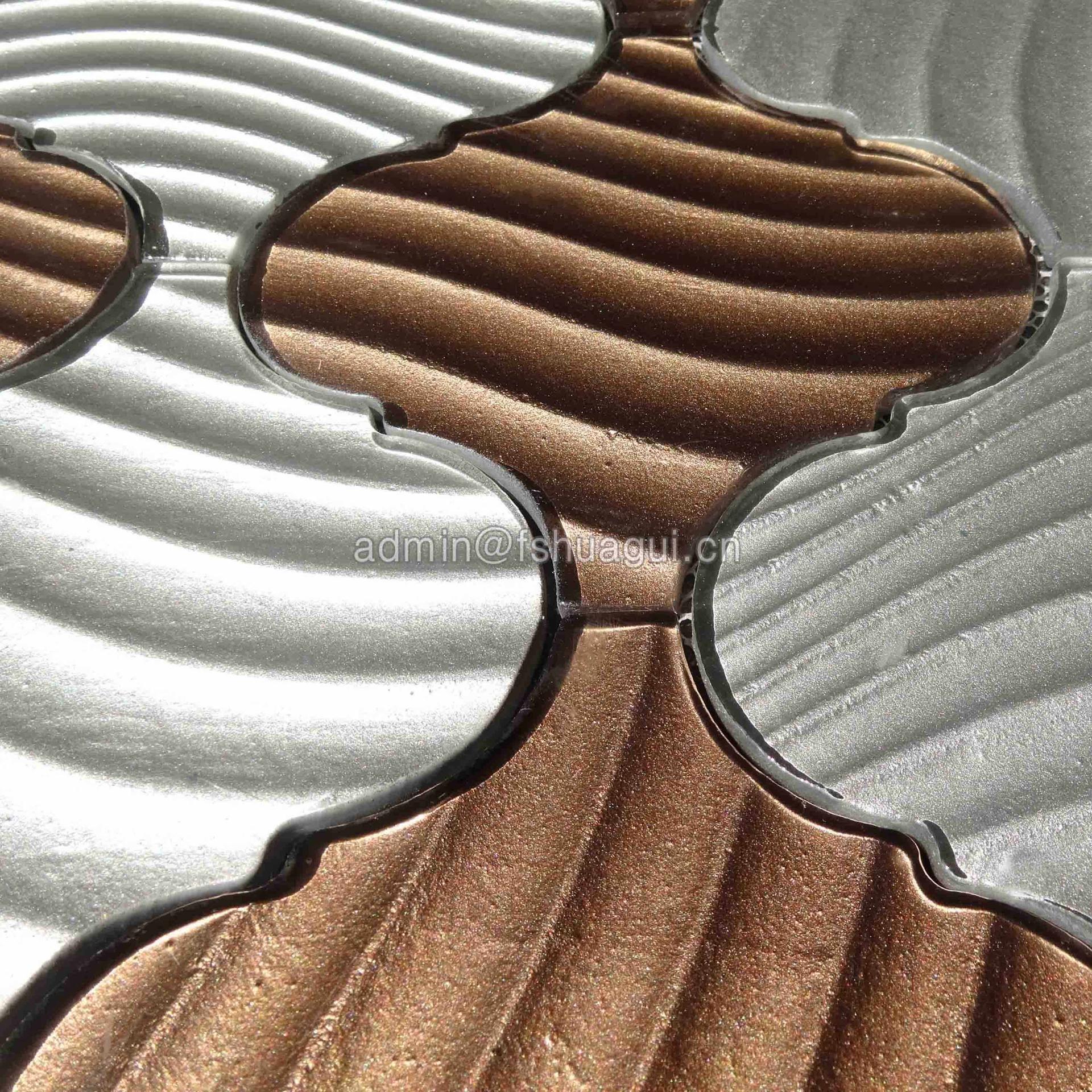Crystal irregular lantern texture glass mosaic tile for floor