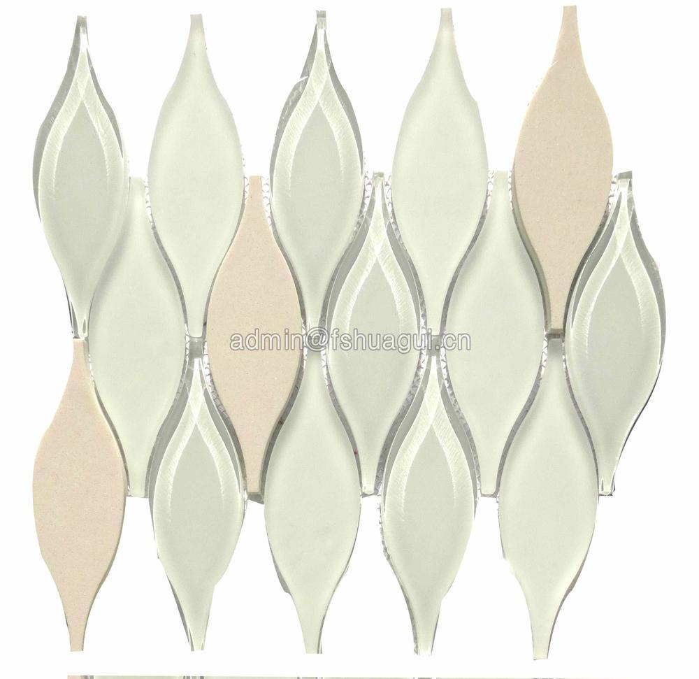New design water jet glass lantern mosaic for backsplash