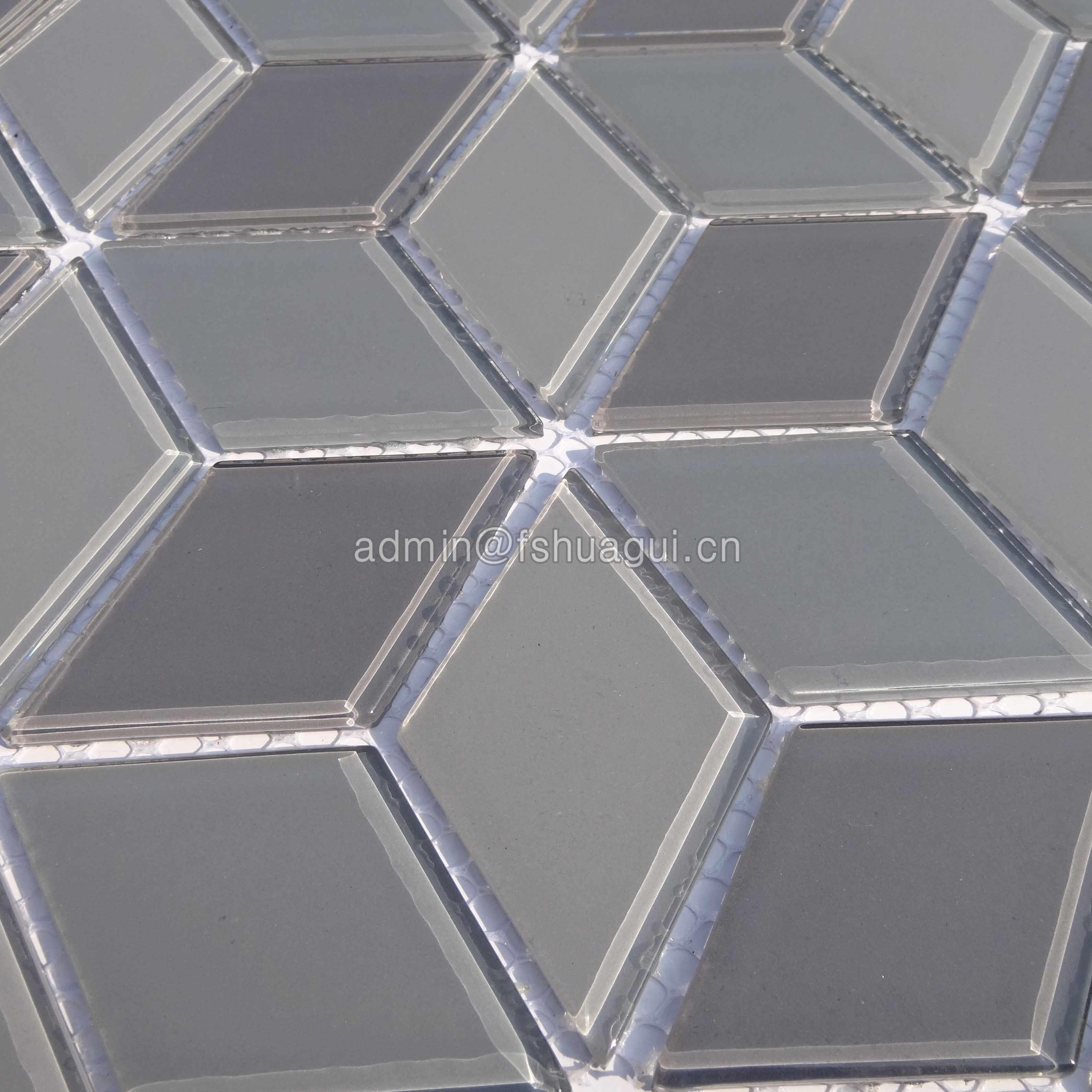 Huagui 3d presidio rhombus mosaic floor tile HG-YX004 GLASS MOSAIC TILE image70