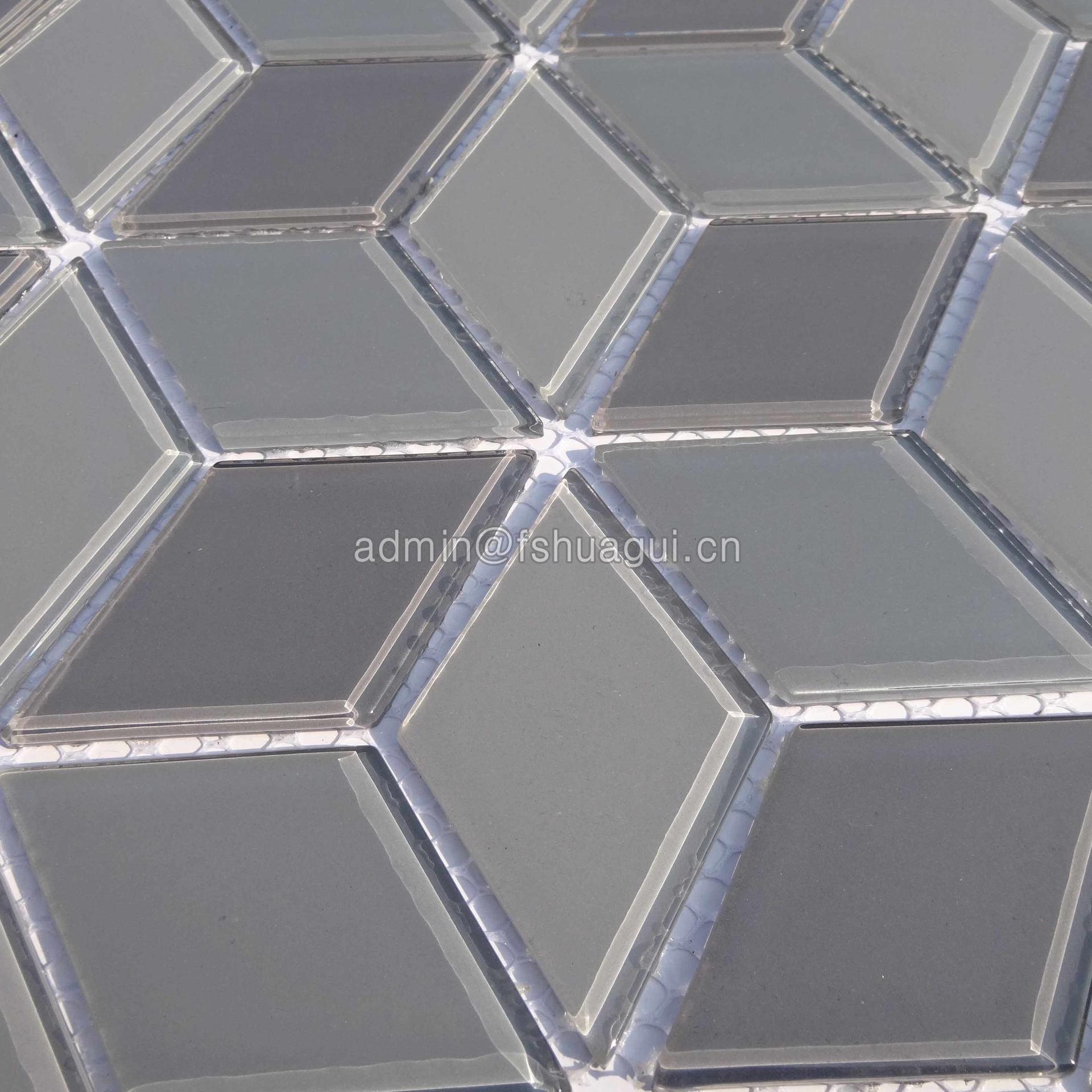 3d presidio rhombus mosaic floor tile HG-YX004