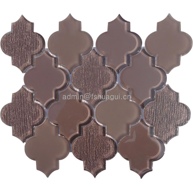 Design of shiny fabric matte glossy porcelain mosaic tile