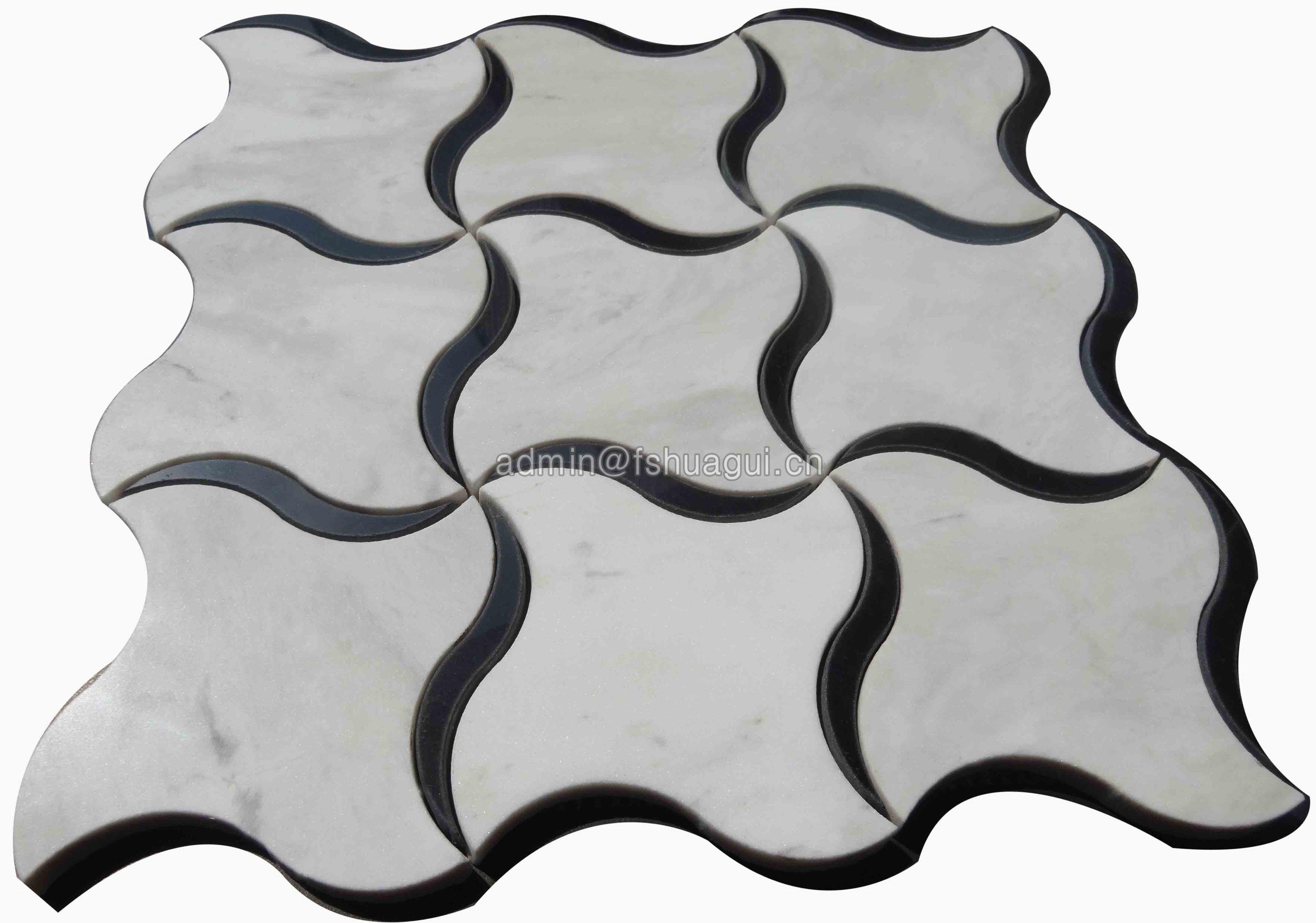 Huagui Water jet Stone Mosaic HG-WJ001 STONE MOSAIC TILE image5