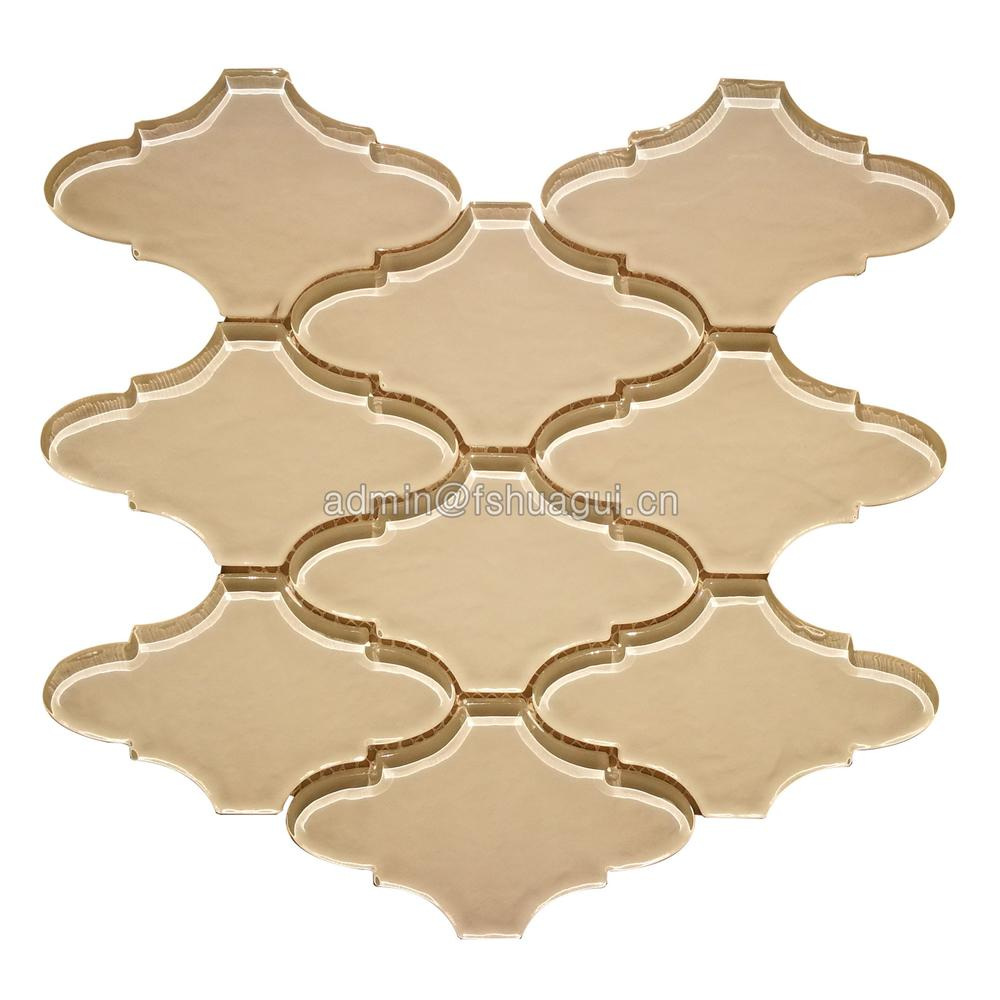Distinctive glass mosaic lantern pattern glossy tiles