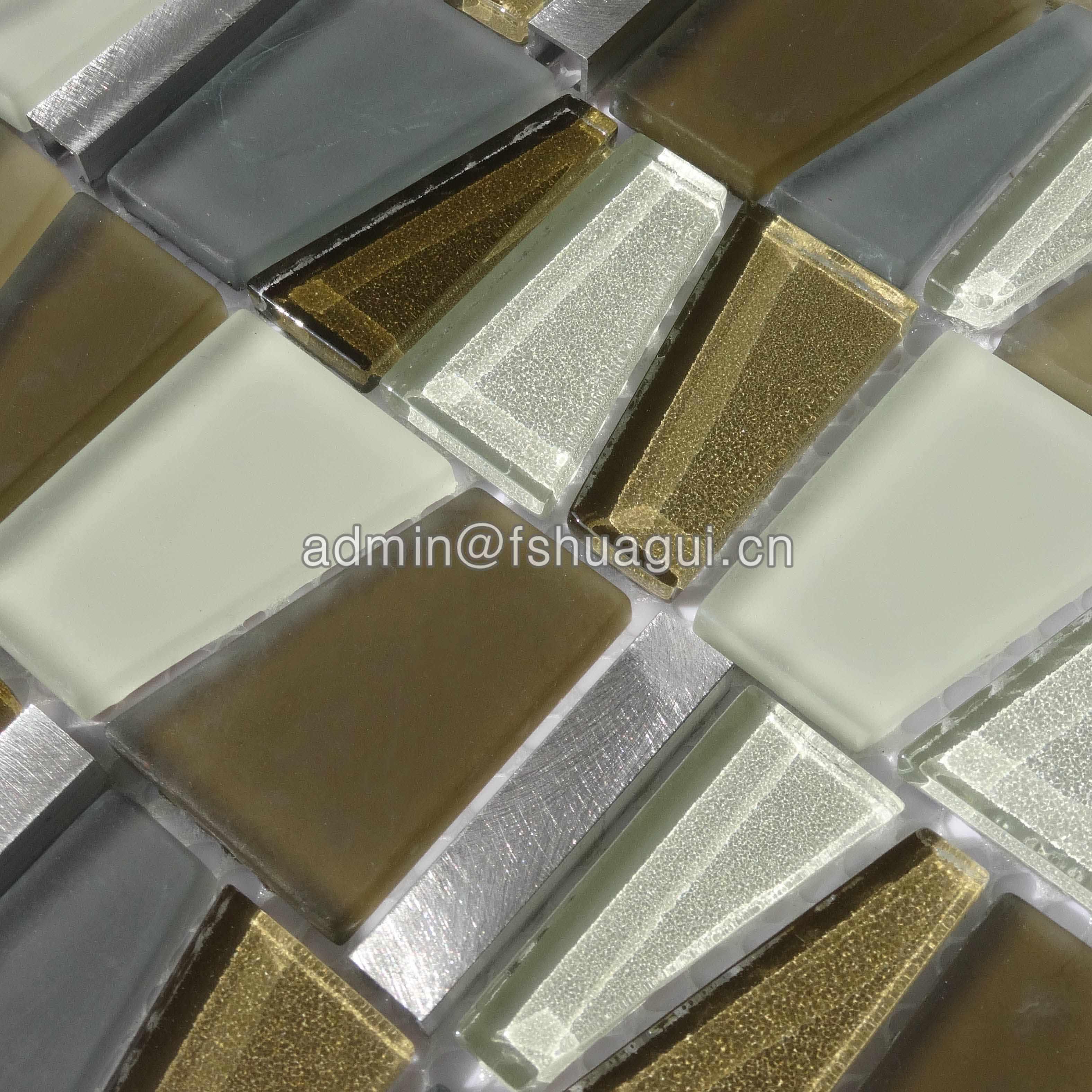 Huagui Glass Metal Mosaic Wall Tile HG-YA002 METAL MOSAIC TILE image5