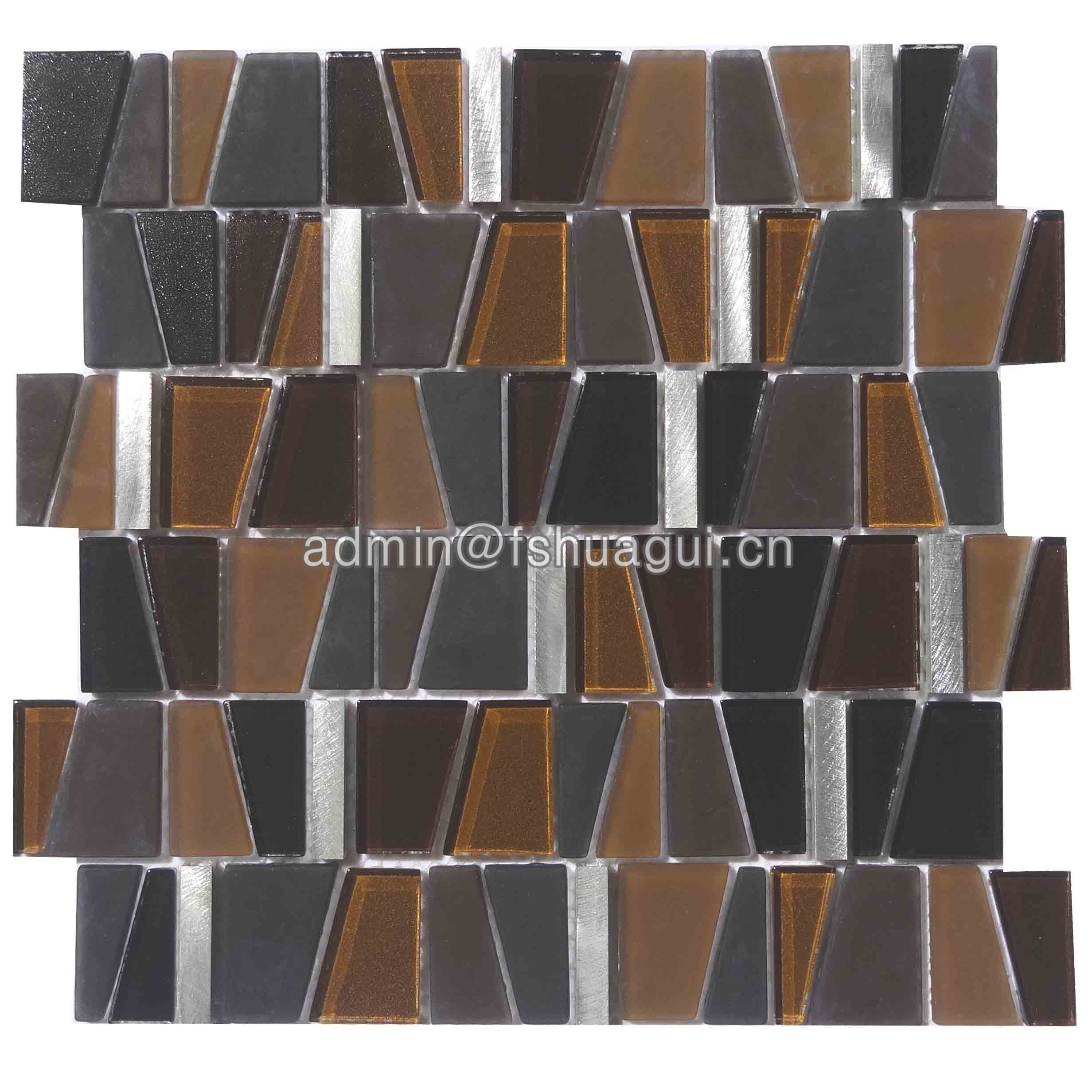 Huagui Glass Metal Mosaic Wall Tile HG-YA003 METAL MOSAIC TILE image4