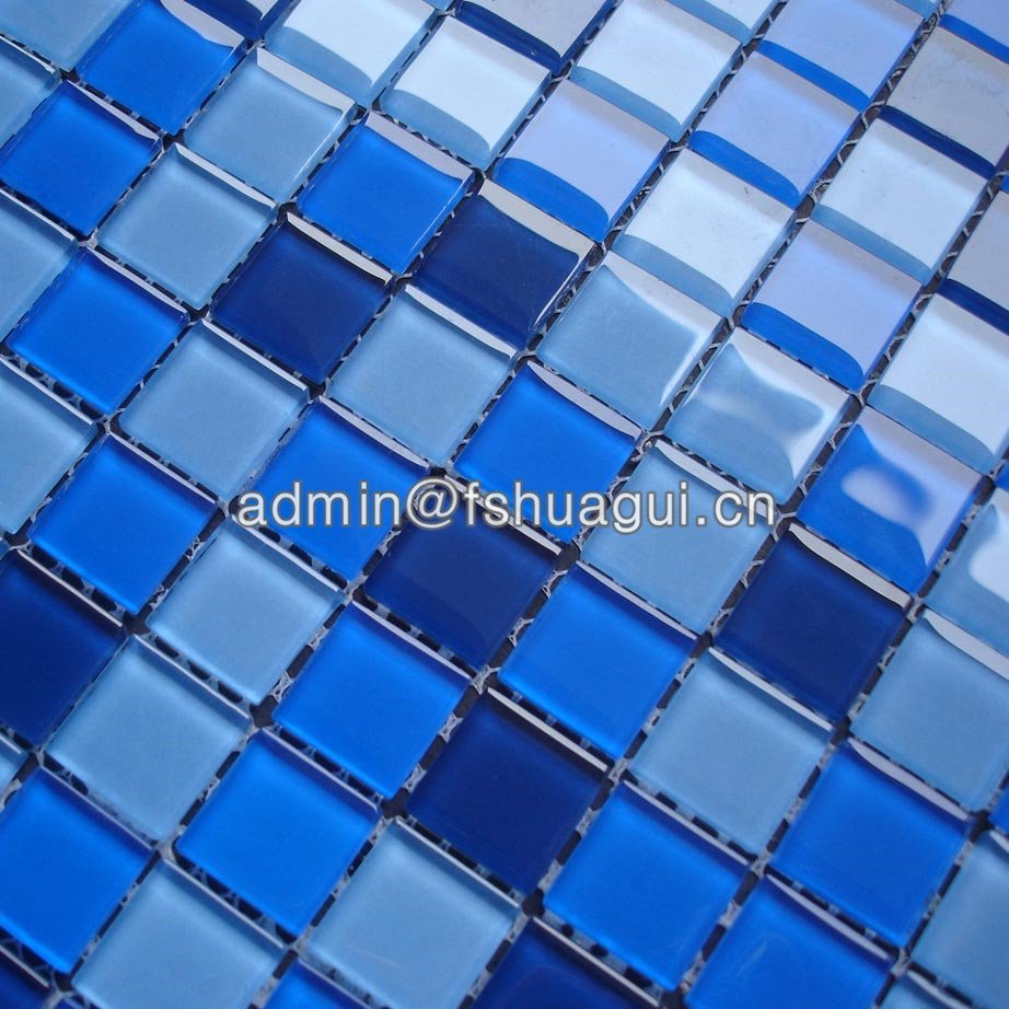 Huagui Blue Color Glossy Glass Mosaic Swimming Pool Mosaic Tiles HG-420010 POOL MOSAIC TILE image16