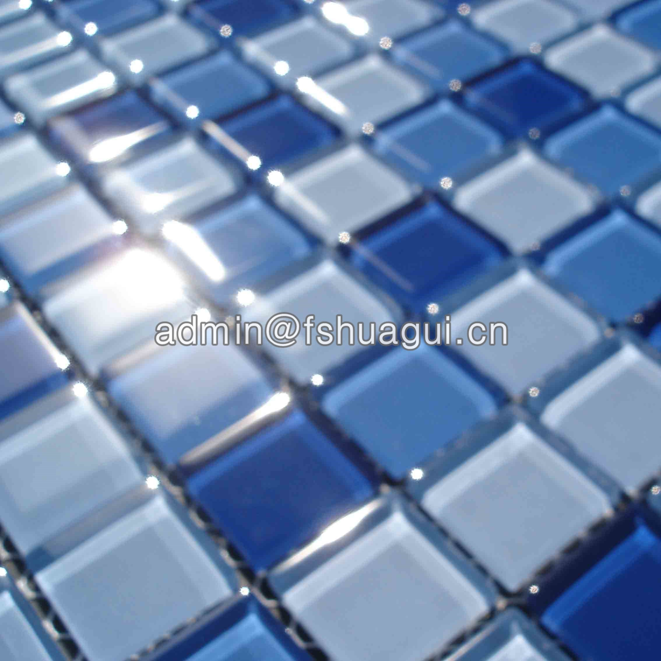 Huagui Blue swimming pool crystal glass mosaic tiles for swimming pools HG-423008 POOL MOSAIC TILE image14