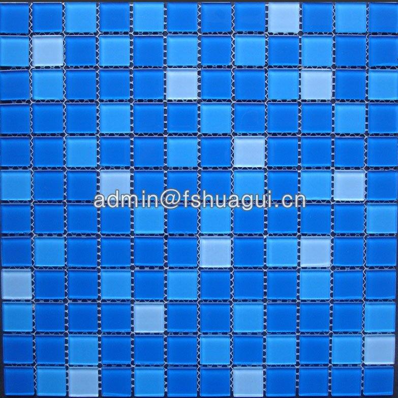 Huagui Glass mix blue colors swimming pool mosaic glass tile HG-423010 POOL MOSAIC TILE image13