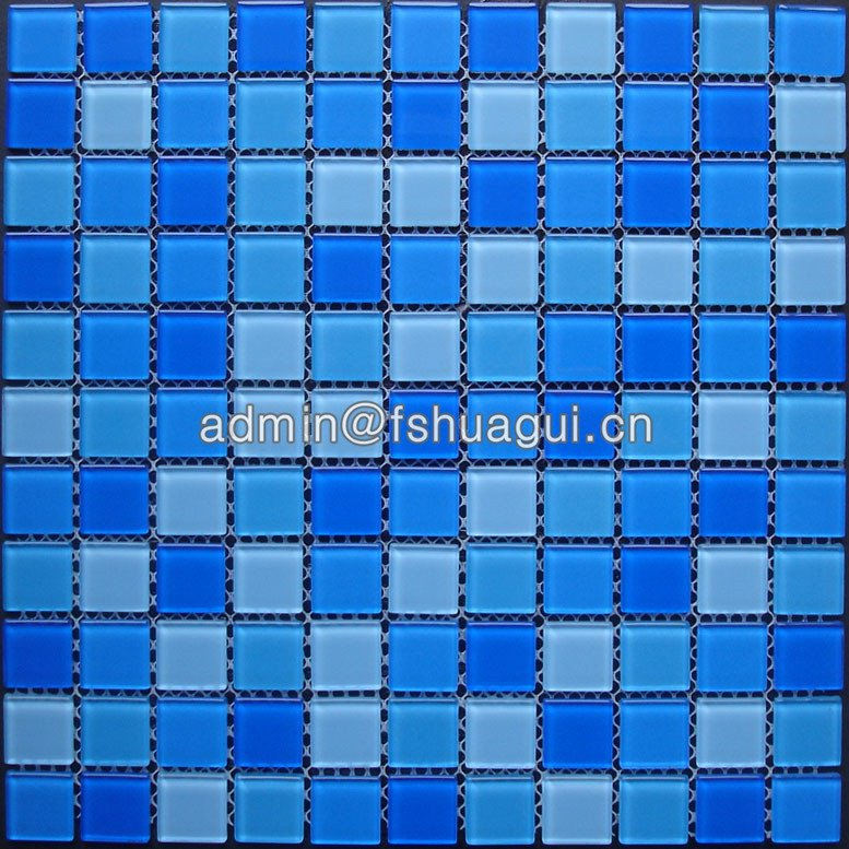 Huagui Swimming pool crystal material glass  mosaic pool tile installation HG-425010 POOL MOSAIC TILE image8