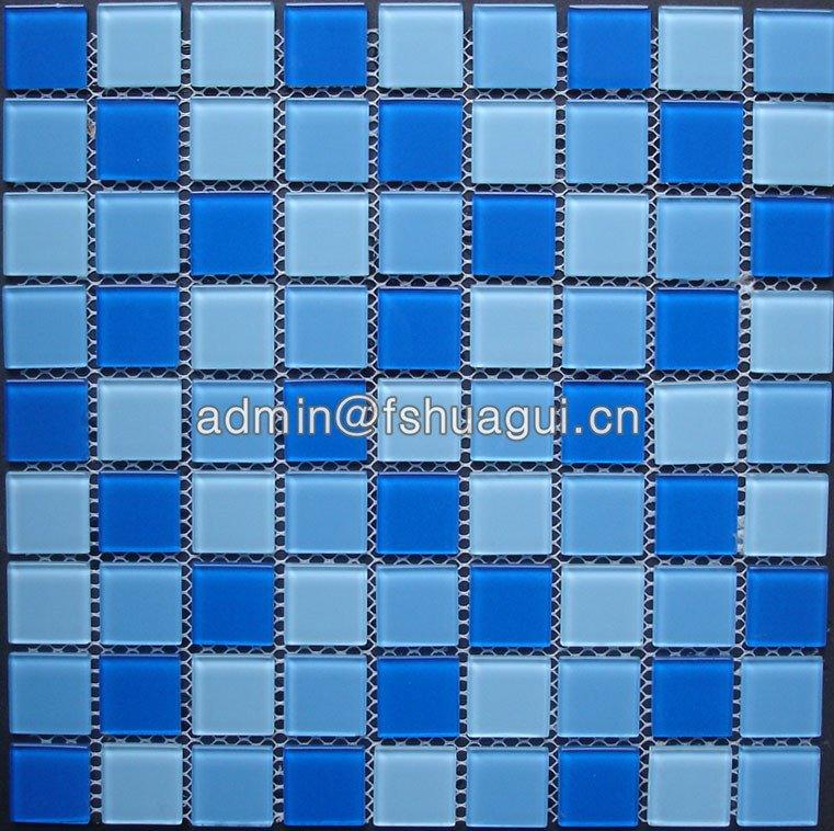 Swimming pool crystal material glass  mosaic pool tile installation HG-425010