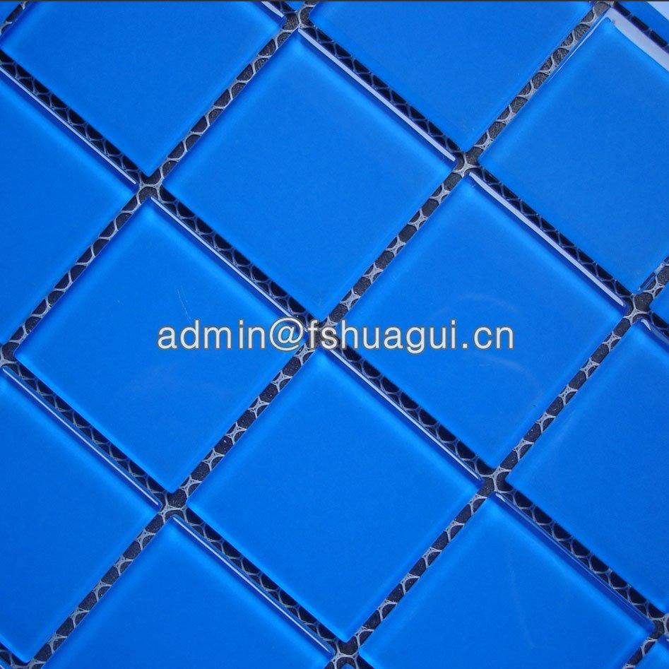 Glass mosaic swimming pool tile Foshan suppliers HG-448002