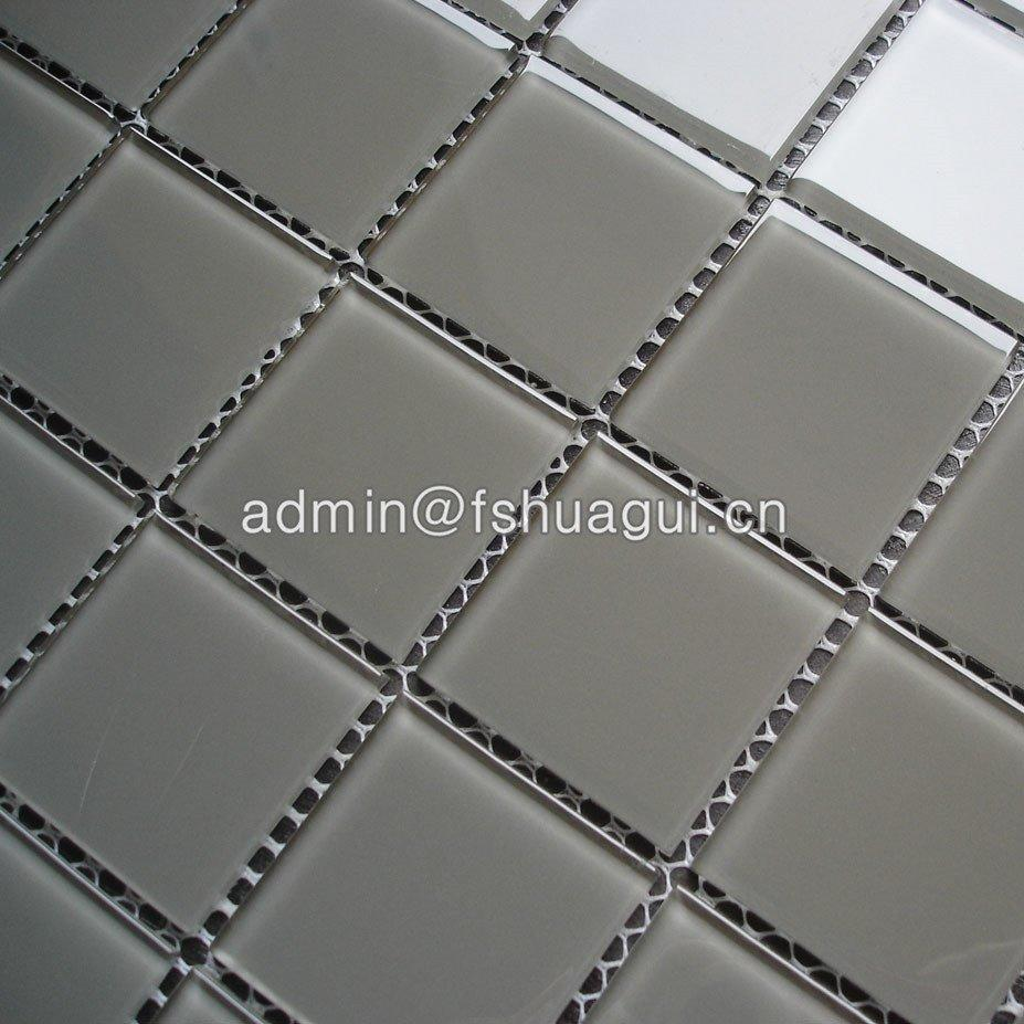 Kitchen Bathroom Backsplash Wall Tile Gray Crystal Glass Pool Mosaic Tile