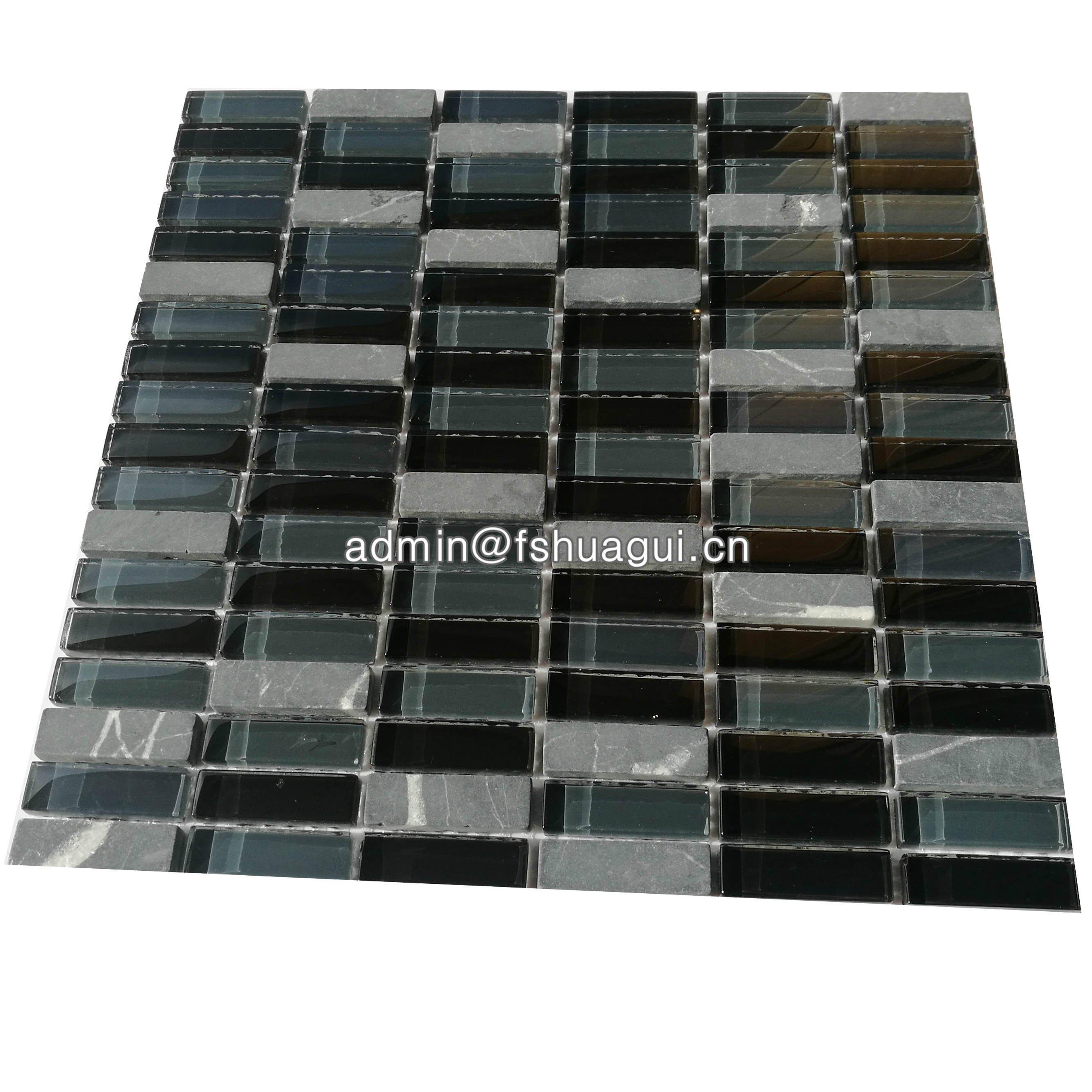 Huagui Glass mosaic HG-ES001 GLASS MOSAIC TILE image68